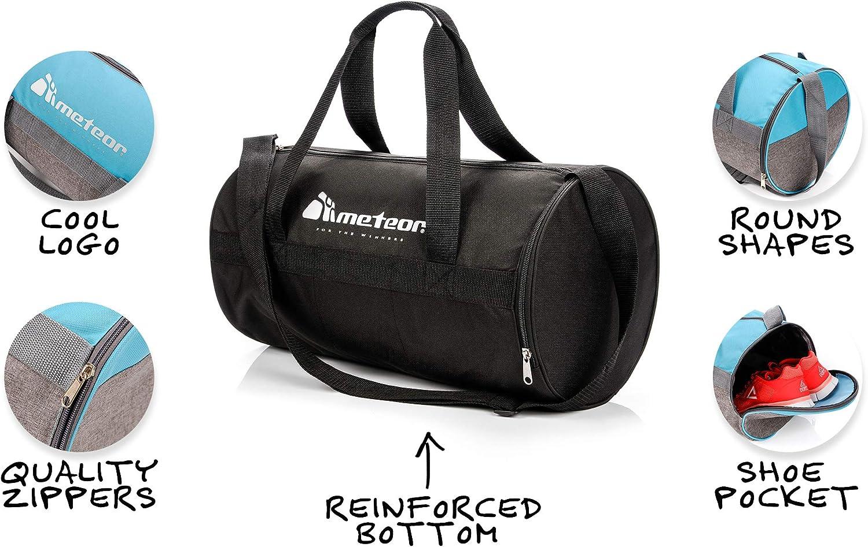 meteor Bolsa Deporte Viaje Gimnasio con Compartimento Separado para Zapatos Duffle Bag para Hombre Mujer Ultraligera Plegable Bolsa Deportiva Yoga Bolsa Fin de Semana