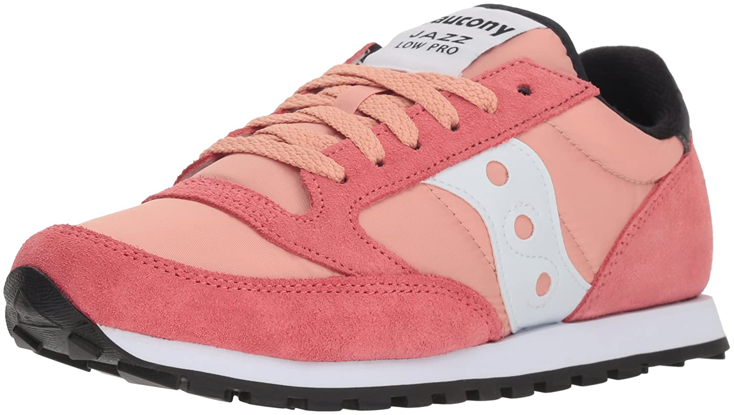 Coral White Saucony Originals Women's Jazz Lowpro Sneakers
