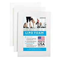 3 Pack Lipo Foam - Post Surgery Ab Board for Use with Post Liposuction Surgery Compression Garments Such As Fajas Colombianas, Phax and Lowla Coresets - Medical Grade Foam - Made in USA White