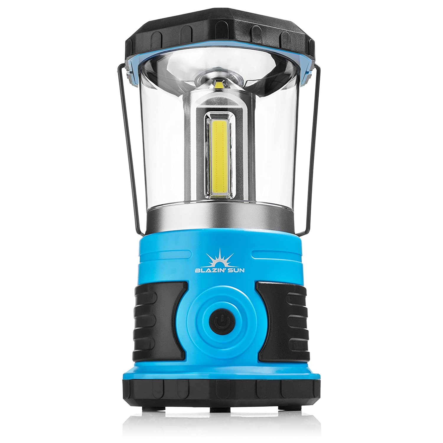 Blazin' Sun 800 | Brightest Lanterns Battery Powered LED Camping and Emergency | Hurricane, Storm and Power Outages (Blue)