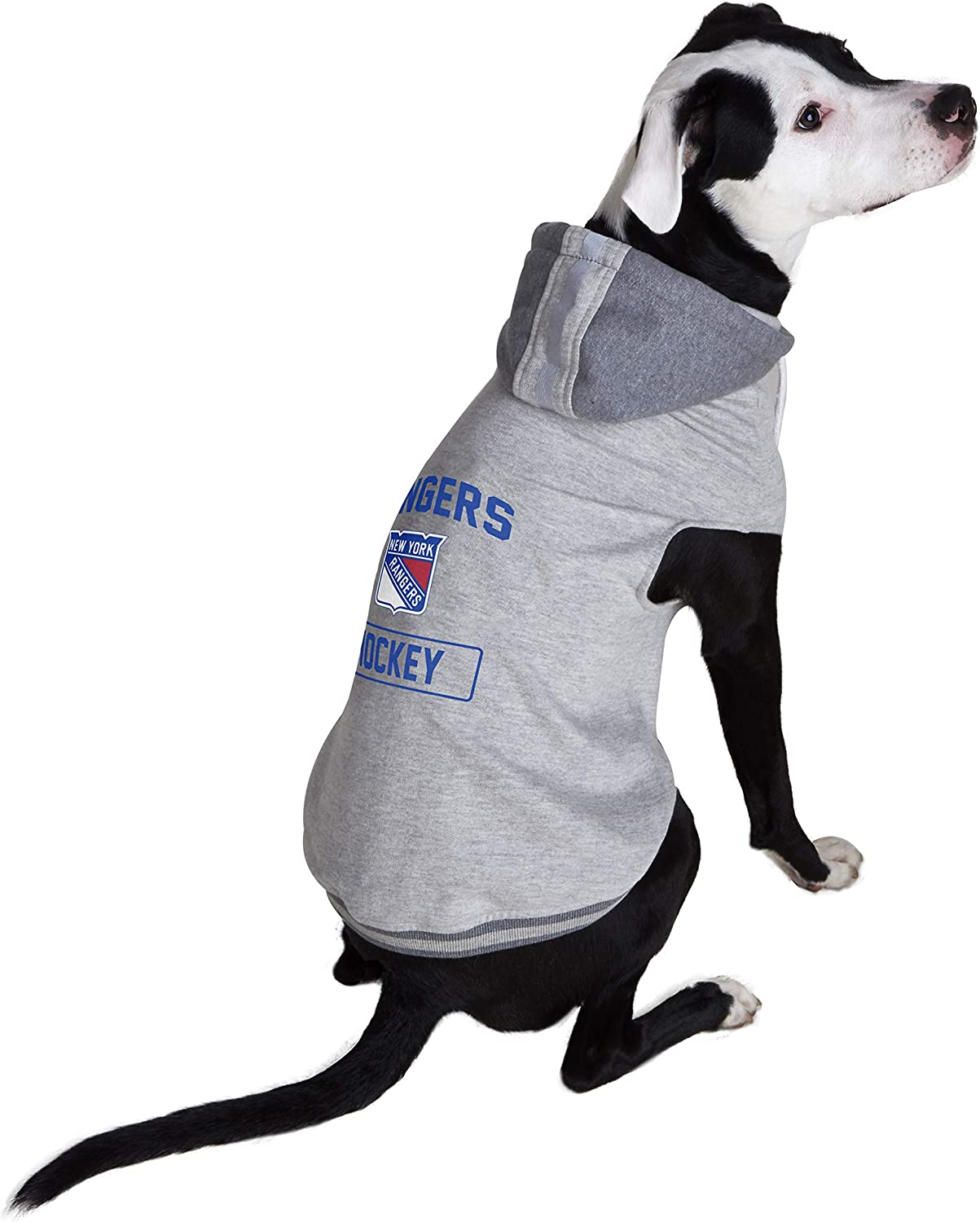 Littlearth NHL New York Rangers Pet Hooded Crewneck Tea Cup