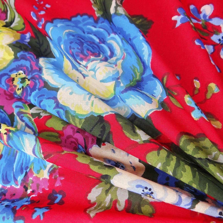 Impresión floral de la tela de algodón puro 52