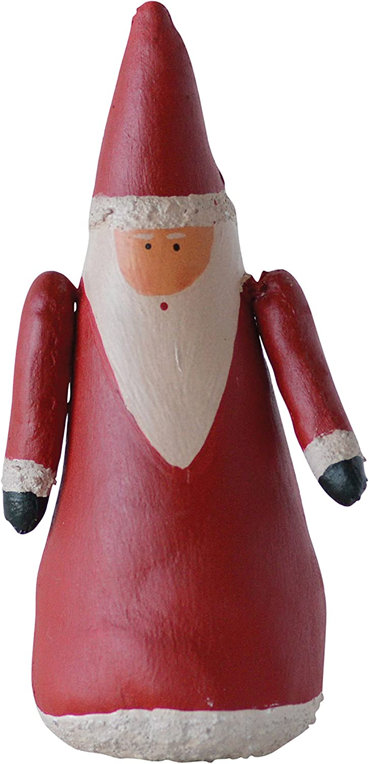 Creative Co-op Extra Large Canvas Hand Painted Red Santa