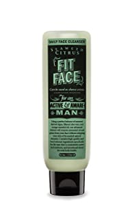 FIT FACE Seaweed Citrus Daily Face Cleanser   Non-Foaming Daily Wash for Men with Anti-Aging and Moisturizing Effects   Won't Dry or Damage Your Face   Natural Ingredients   For all Skin Types   6 oz