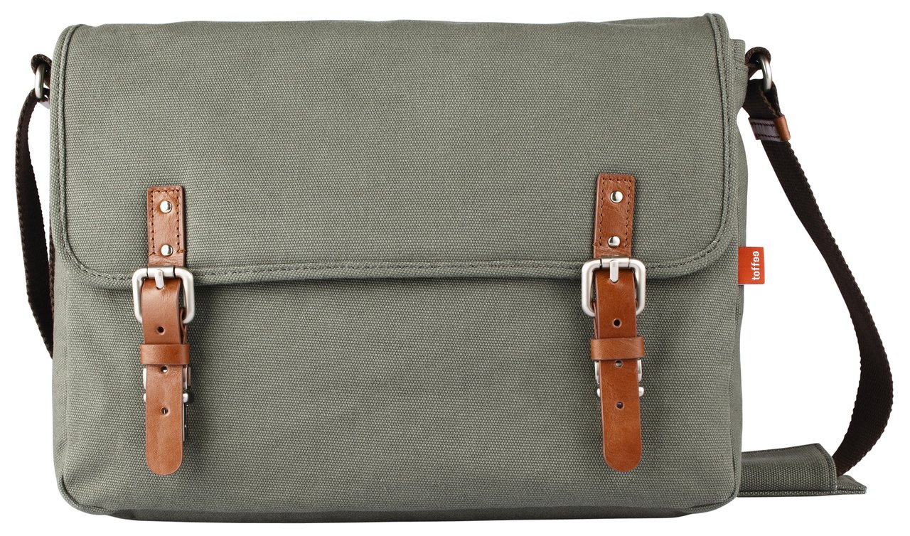 Toffee Fitzroy Satchel for most Laptops up to 15.4-inch (Green)