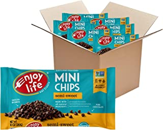product image for Enjoy Life Foods Baking Chocolate Semi-Sweet Mini Chips, Dairy Free Chocolate Chips, Soy Free, Nut Free, Non GMO, Gluten Free, Vegan Chocolate Chips, 12 Bags, 60 Ounce (Pack of 6)