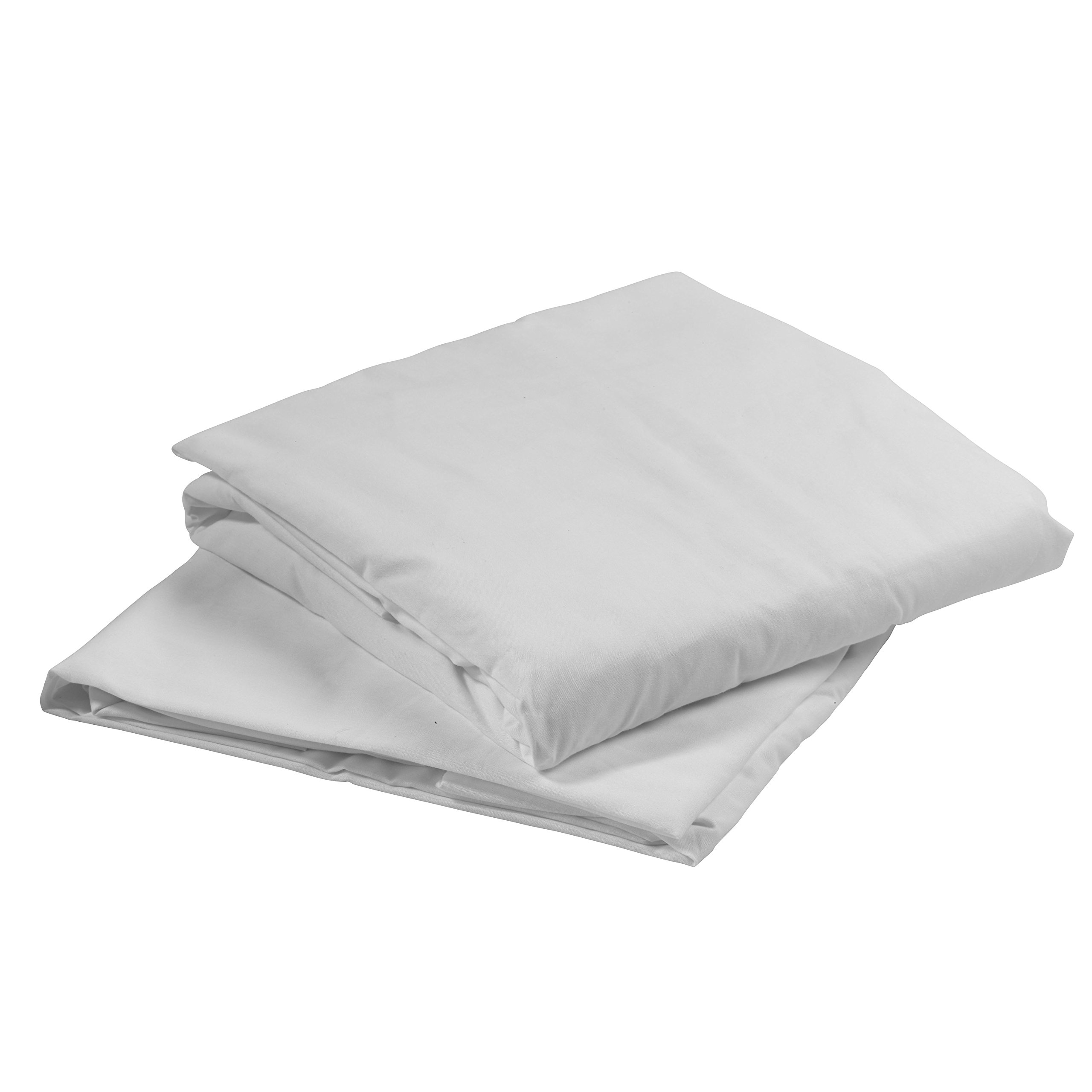 Drive Medical 15030HBL Hospital Bed Fitted Sheets, White, 36'' x 80'' x 5''-6''