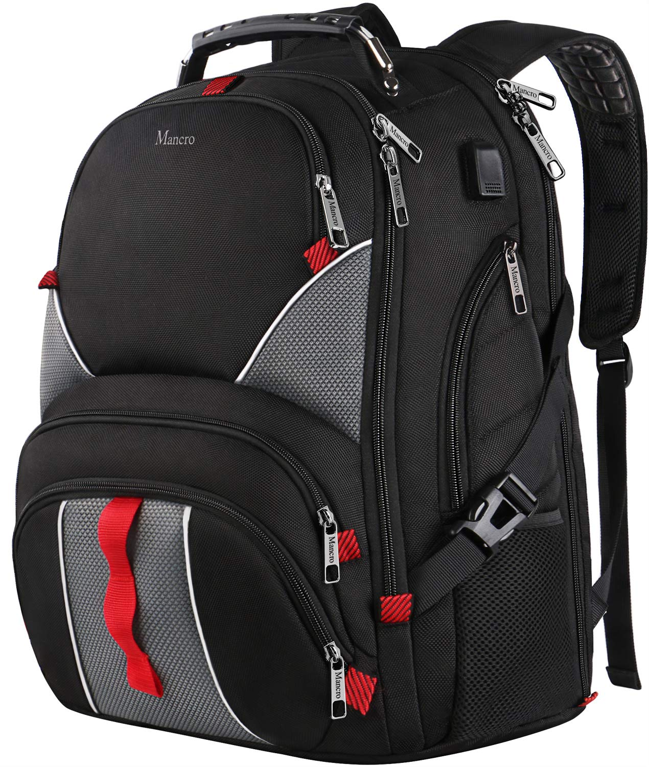 e90ad9dea 17 Inch Laptop Backpack,Extra Large Durable TSA Friendly Computer Backpack  for Men Women,Waterproof School Book Bag with USB Charging Port,Luggage  Sleeve ...