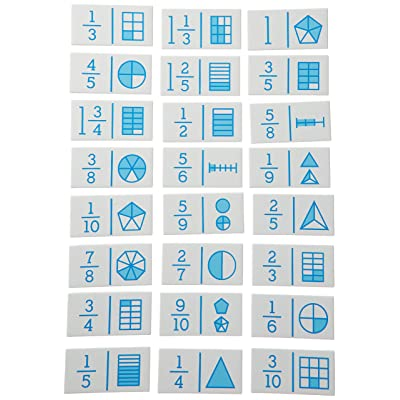 Didax Educational Resources Hands-On Math Fraction Dominoes, 24 pcs: Arts, Crafts & Sewing