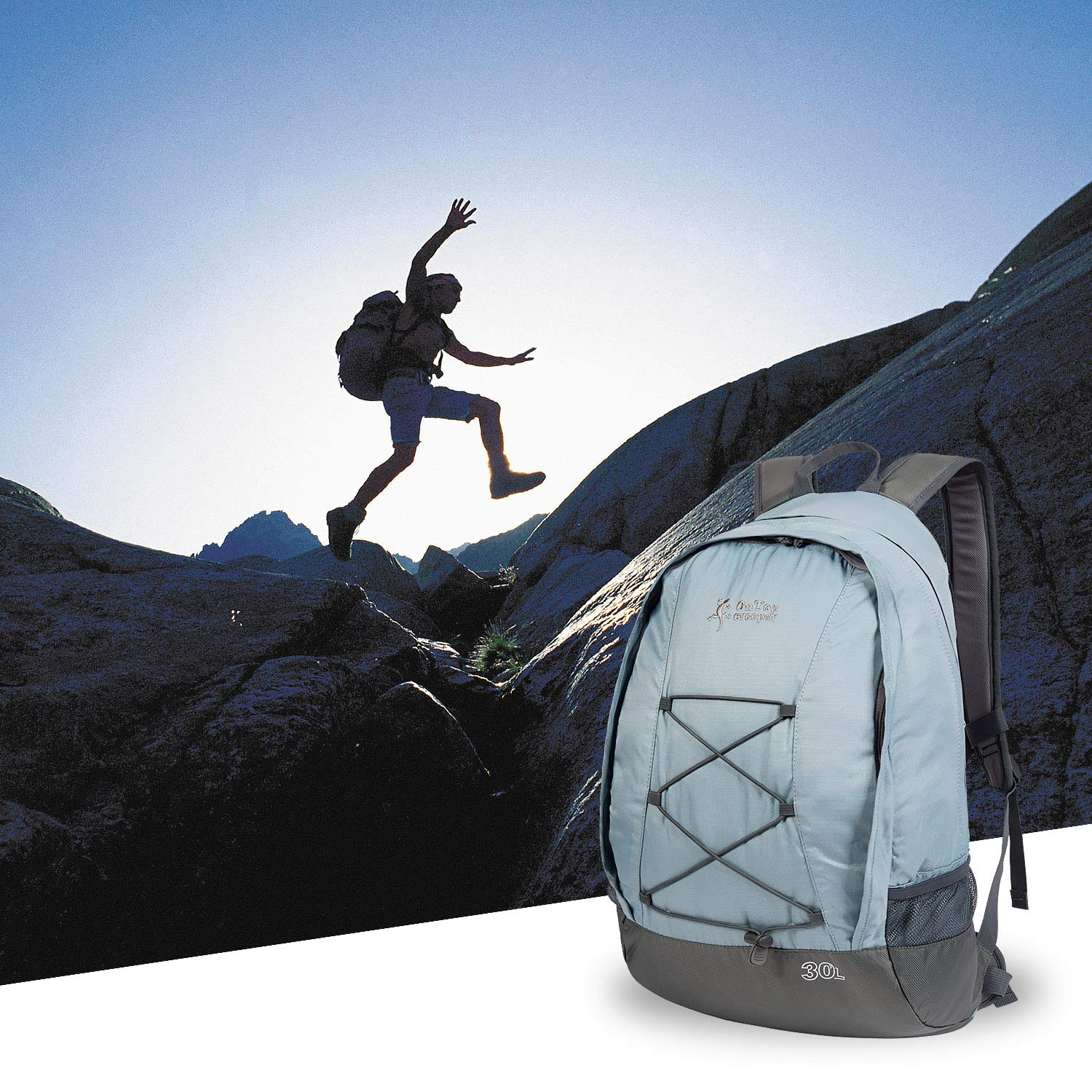 OnTopcreeper Hiking Backpack 30L Lightweight Suspension and Ventilation Travel Daypack Bag for Mountaineering Camping Climbing Cycling Fishing
