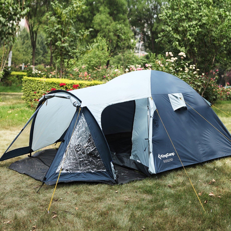KingCamp Fin de Semana 3 Personas Tienda para Camping Resistente Viento Ignífuga Resistente al Agua 3000mm Senderismo Aire Libre: Amazon.es: Deportes y aire ...