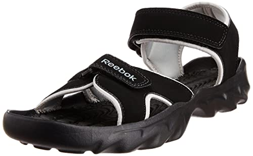 eec16a1c1 Reebok Men s Super Drive Black Sandals and Floaters - 11 UK  Buy Online at  Low Prices in India - Amazon.in