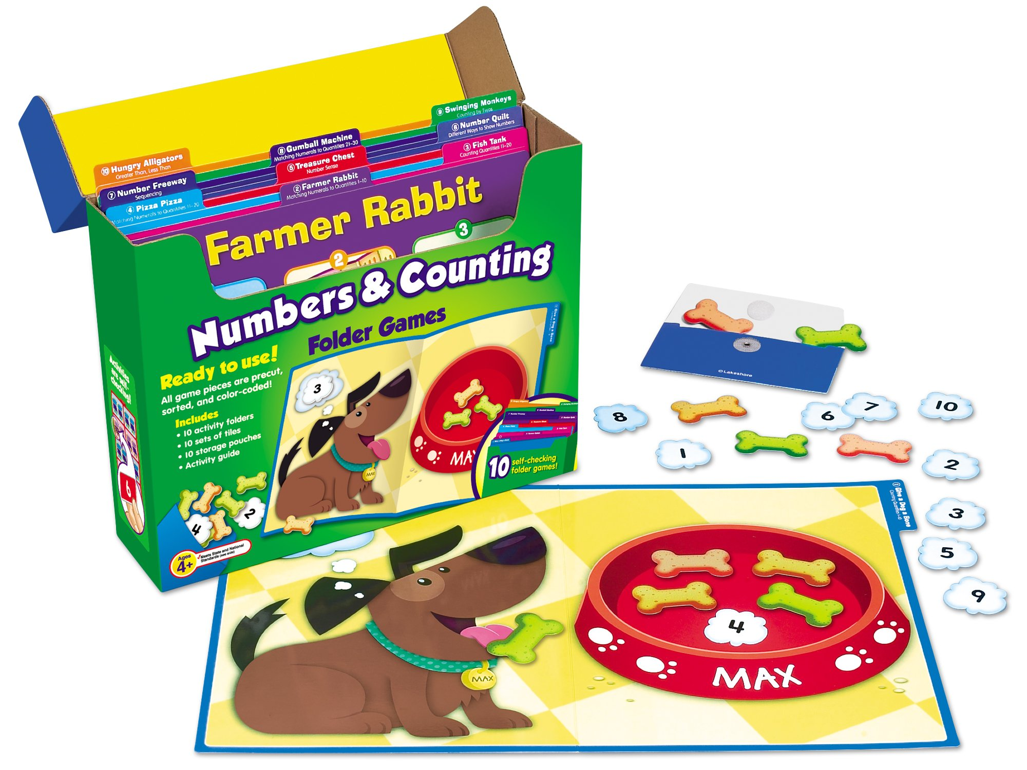 Lakeshore Early Math File Folder Game Libraries - Pre K-K - Complete Set by Lakeshore Learning Materials (Image #4)