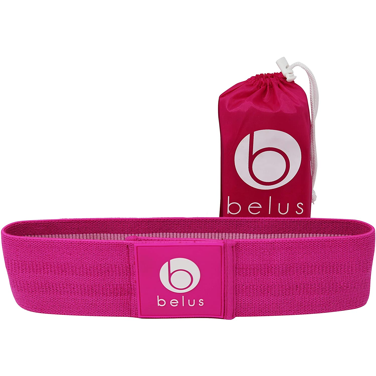 Perfect Booty Builder for Women Pink Belus Fabric Resistance Band FREE BONUSES: Monthly Booty Challenge with prizes and the Ultimate Booty Guide Leg and Glute Band for Home and the Gym