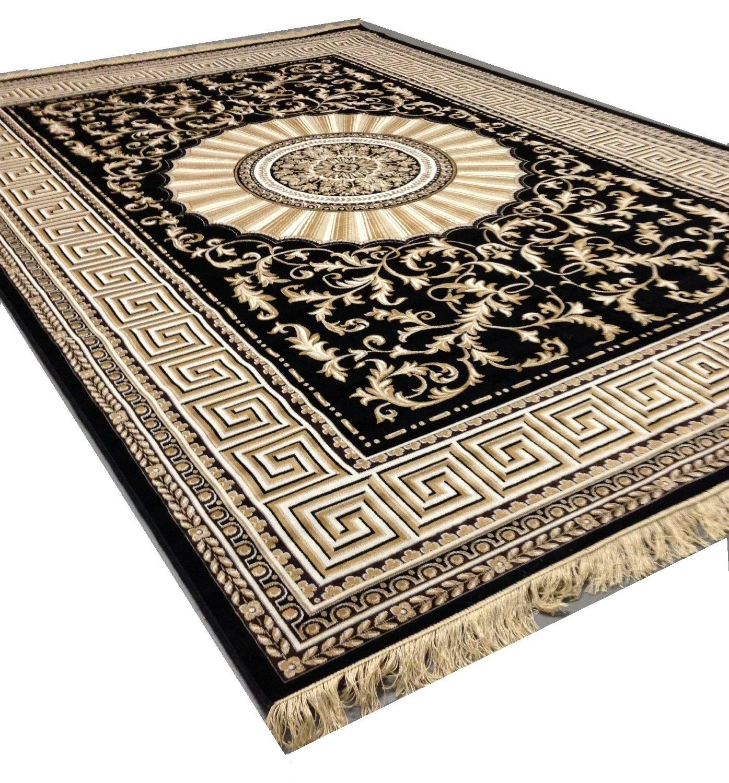 morrocan ebony contemporary living geometric room carpet dining black com gold and bedroom x lines wavy area amazon rug resistant dp trellis modern
