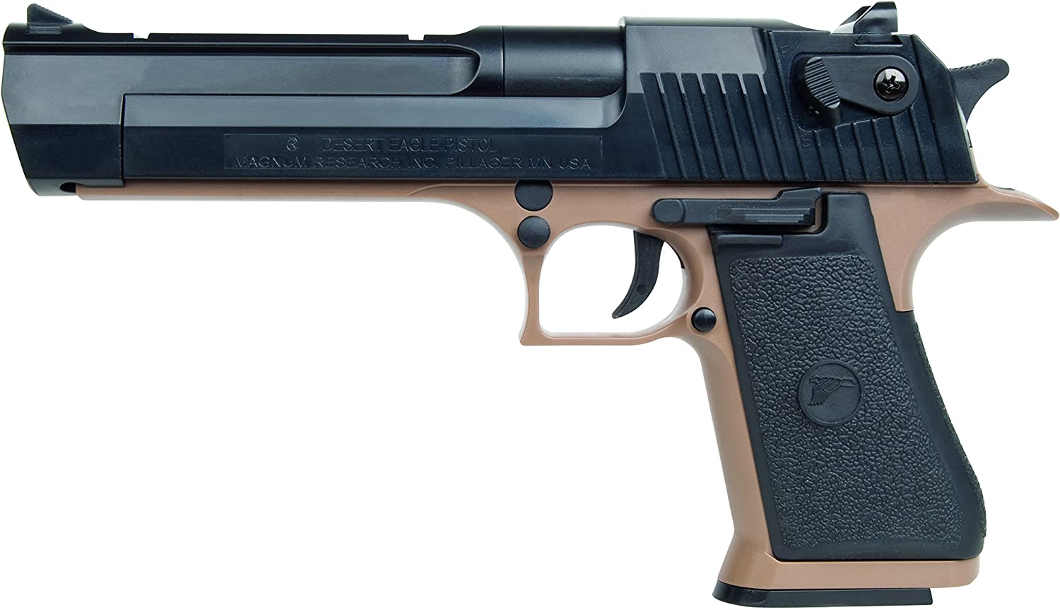 DESERT EAGLE 50AE CORPS TAN MUELLE (< 0,5 joules)