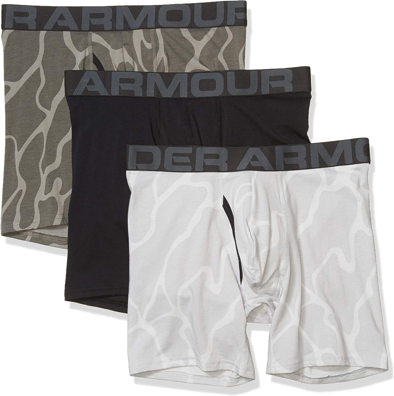 Under Armour Charged Cotton 6in 3 Pack Novelty Cale/çon Homme