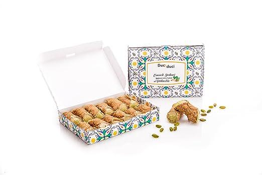 12 Cannoli siciliani - Duci duci - Pastelería casera, cannoli siciliano relleno de crema de