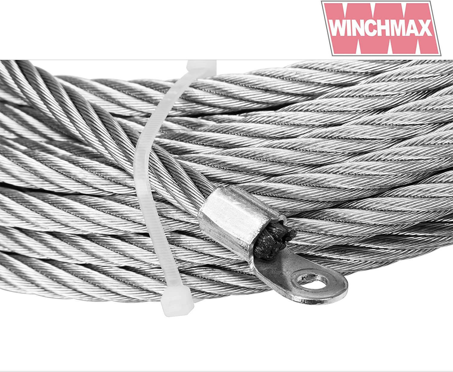 Winch Cable Wire Rope 26m x 9,5 mm suitable for winches up to 13,500lb