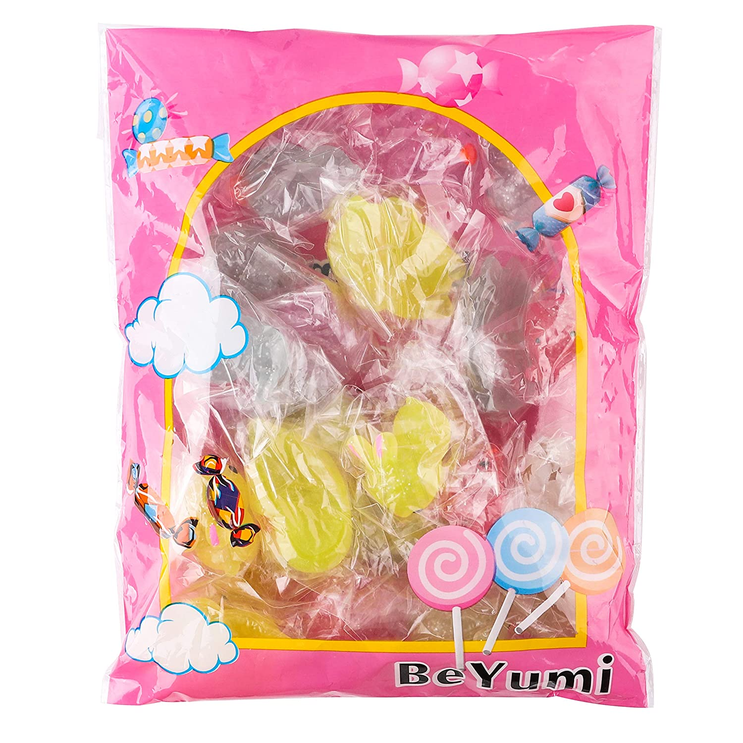 BEYUMI 25 Pcs 2nd Generation Mochi Glitter Mini Animals Squishies Kawaii Cute Soft Stretchy Toys