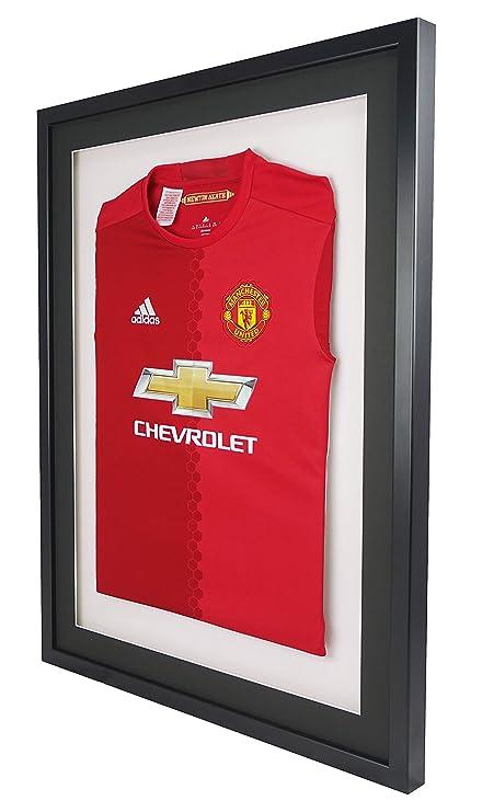 How To Frame A Shirt >> Vivarti Diy Mounted Sports Shirt Display Frame 60 X 80cm Black Frame Black Mount White Backing Card