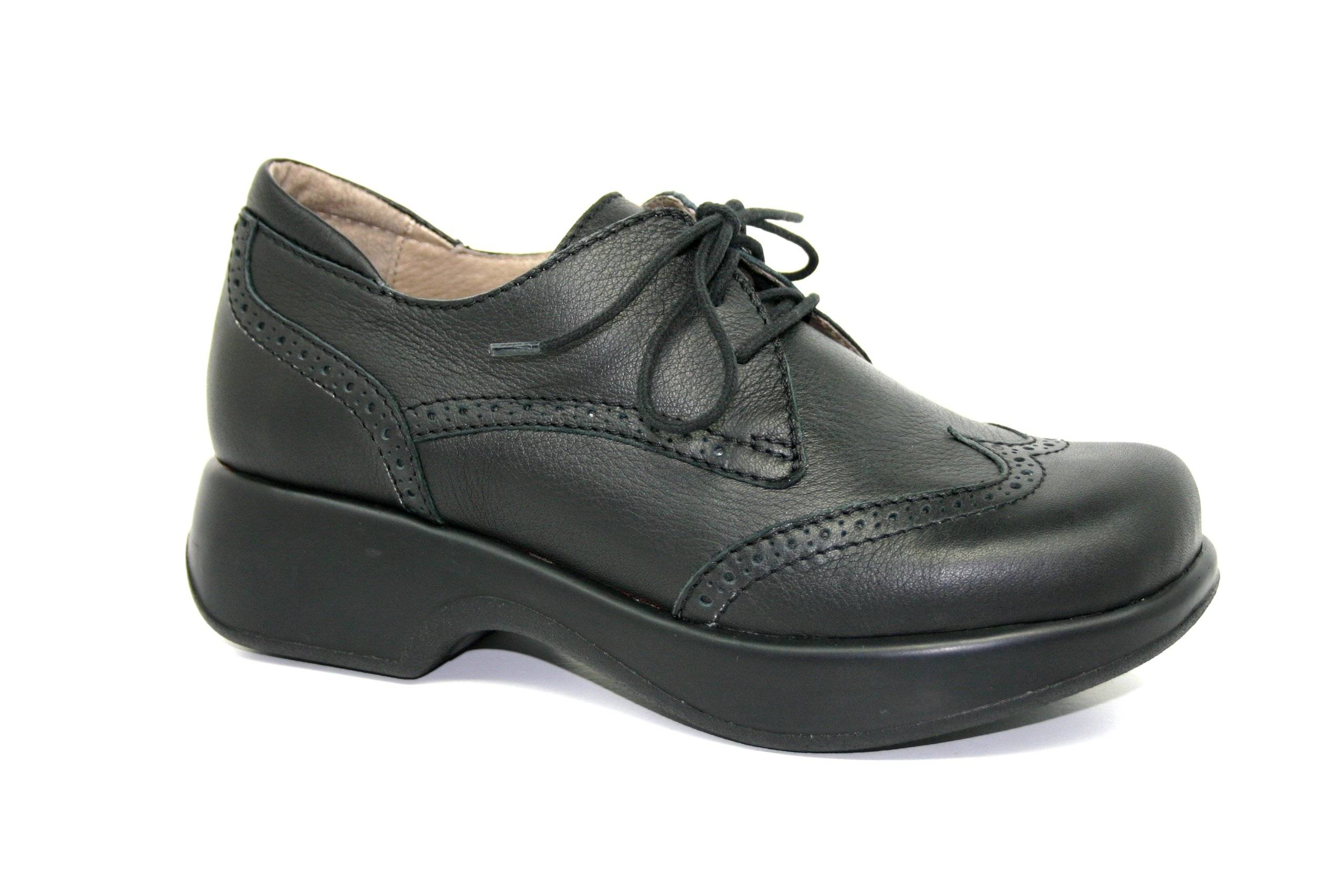 Dromedaris Women's Hornbill Platform Shoes,Black,39 M EU