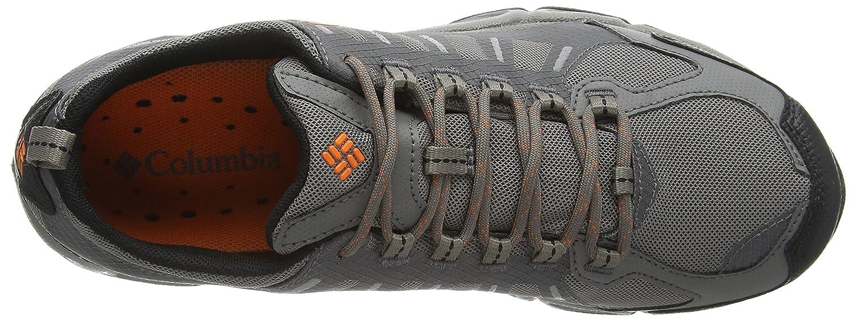 Columbia Ventfreak Outdry Zapatillas de Trekking y Senderismo, de Material Sintético, para Hombre, Rojo Rot (Rocket/Negro 677), Talla 41 EU/7 UK