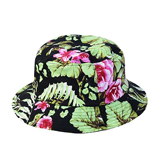 8f2166d64ac 1611MAIN The Hawaiian Floral Cotton Bucket Hat at Amazon Men s Clothing  store
