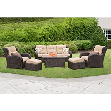 outdoor patio furniture deep seating set premium fabric wicker deck tables at target clearance chairs on sale
