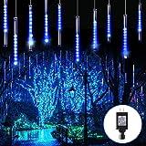 Blingstar Meteor Shower Lights 30CM 10 Tubes 240 LED Christmas Lights Plug in Snowfall LED Lights Outdoor Waterproof Falling