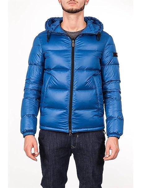 f710b882a9931 Peuterey - Uomo Piumino Giacca Azzurro con Cappuccio VELOSO 268-25796   Amazon.it  Abbigliamento