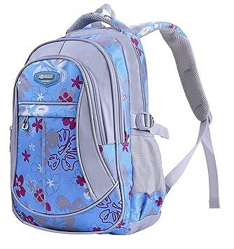 c044fe883317 MAYZERO School Backpacks Waterproof School Bags Durable Travel Camping  Backpacks for Boys and Girls (3 Blue)