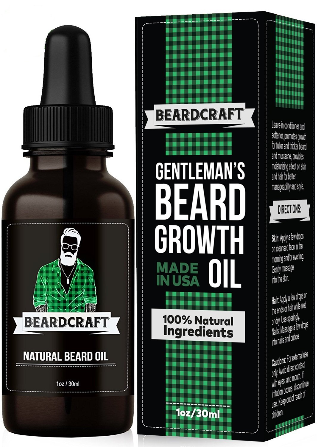 Beard Oil - Mustache Softener Moisturizer - Unscented Leave-in Conditioner - Beard Oil Growth Essence for Fuller and Thicker Beard - Natural Organic USA-Made Formula - Best Present for Men