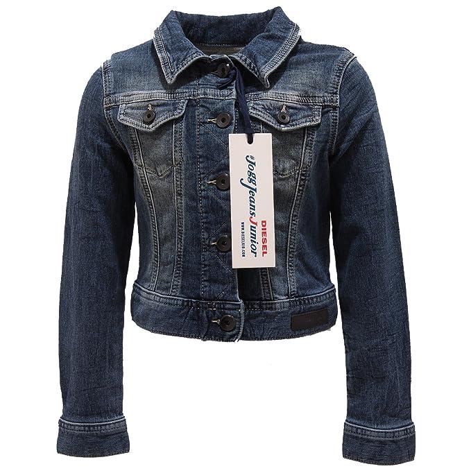 pretty nice e318d 5d079 Diesel 0837T giubbotto jeans bimba girl blu denim jacket [6 ...