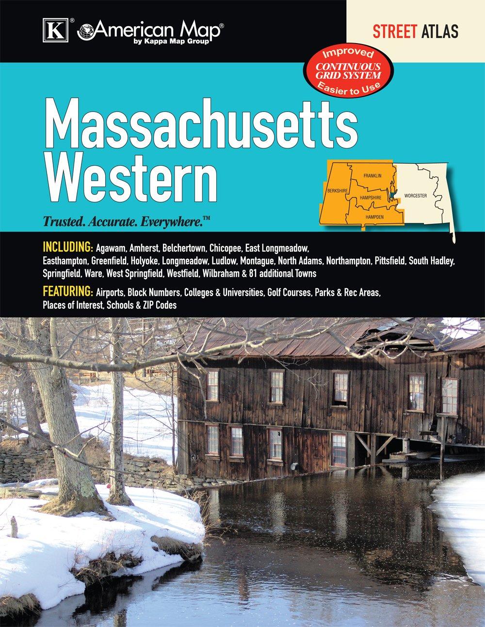 Massachusetts State Western Street Atlas Kappa Map Group - Us zip code massachusetts