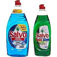 Salvo Power Clean Lavatrastes Líquido 1.2L + Salvo Ultra Limón 640 ml