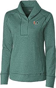 Cutter & Buck NCAA womens NCAA Women's Shoreline Half Zip Jacket