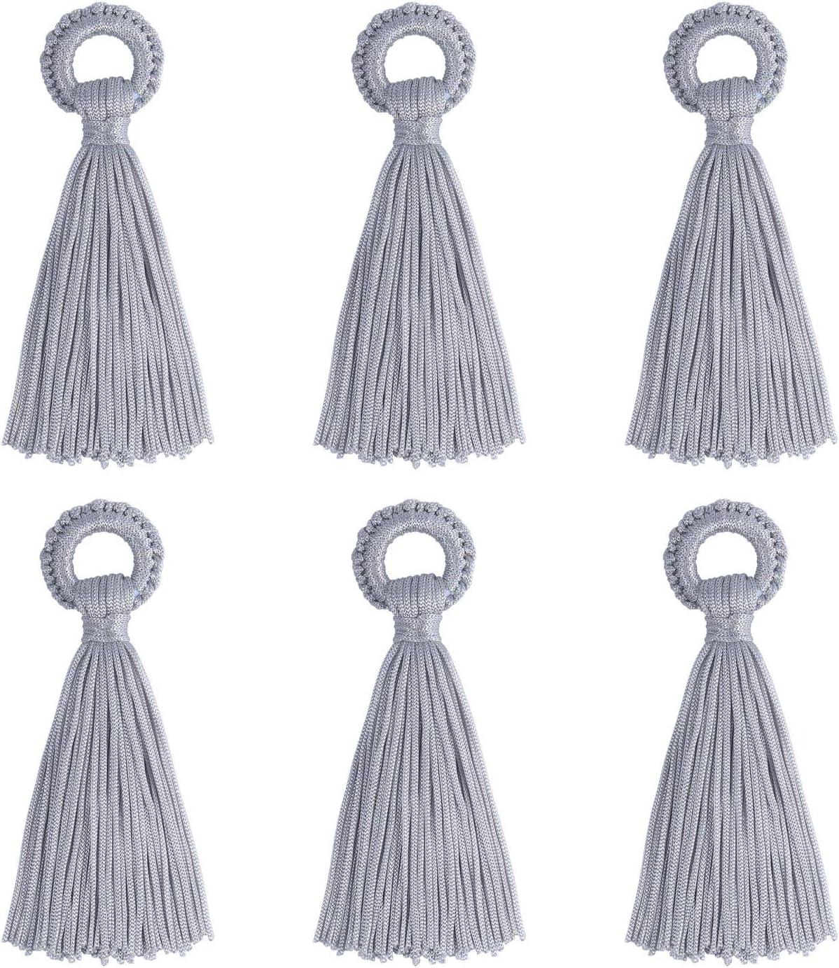 Wholesale 12 PCS Craft Tassels Handmade Soft Silk Large Tassel Bulk for DIY and Jewelry Making(6 Pairs)