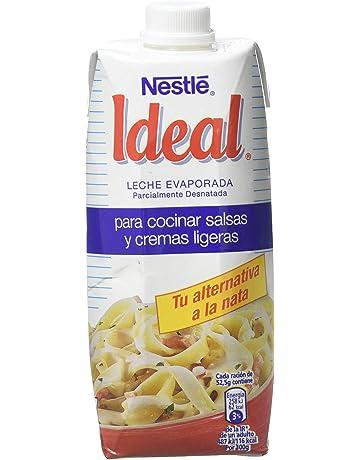 Nestlé Ideal Leche evaporada semidesnatada - Caja de leche evaporada 500 ml (525 gr)