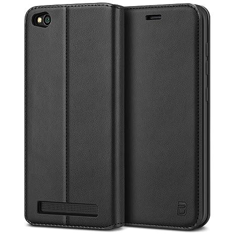 BEZ Funda Xiaomi Redmi 5A, Carcasa Compatible para Xiaomi Redmi 5A, Libro de Cuero con Tapa y Cartera, Cover Protectora con Ranura para Tarjetas y ...
