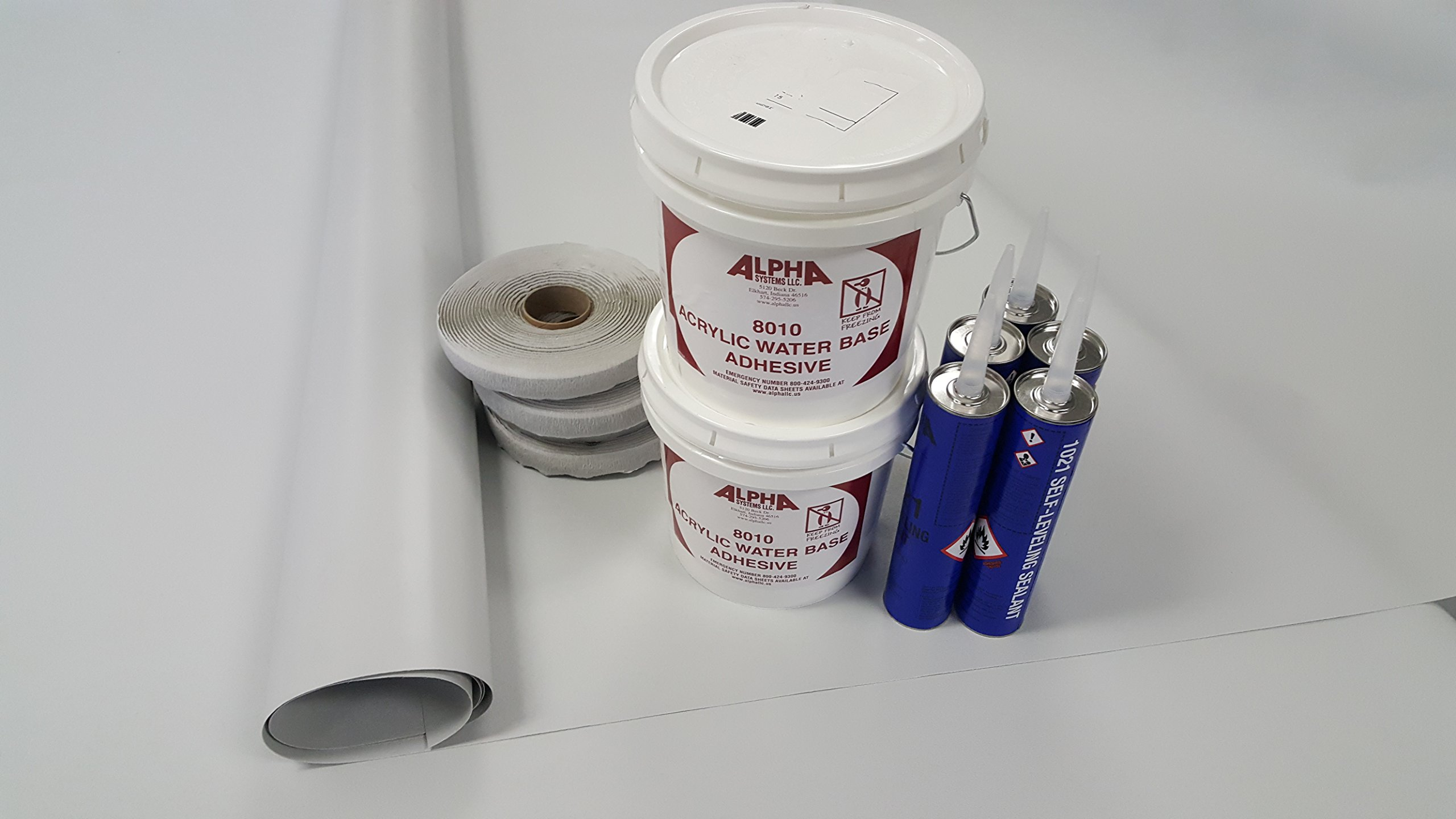 Superflex RV Rubber Roof Kit 9.5' X 35' Complete Kit