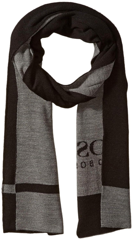 Hugo Boss Men's Ciny Knitted Scarf, Charcoal One Size BOSS Hugo Boss 50393128