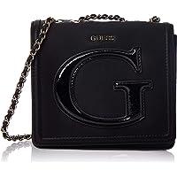 GUESS Womens Mini Crossbody Flap Bag, Black - PG744078