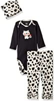 Gerber Baby Girls' 3 Piece Bodysuit, Cap and Legging Set