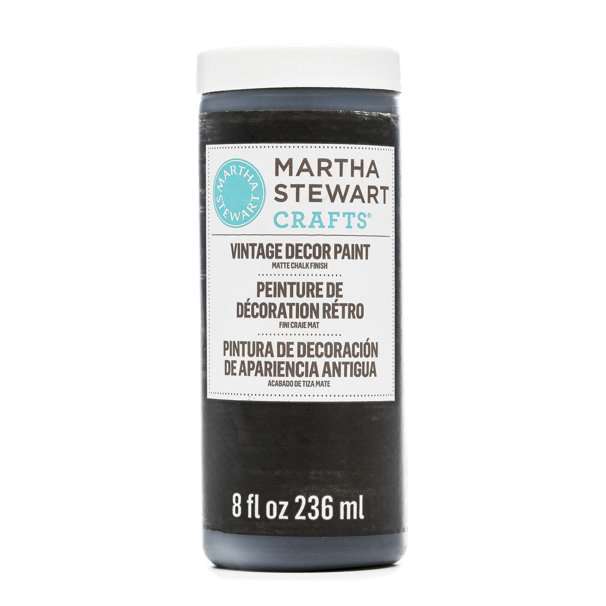 Martha Stewart Vintage Decor Matte Chalk Paint: Beetle Black, 8 oz