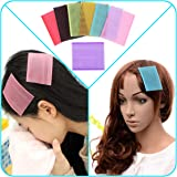 QY 7PCS Colorful Magic Bangs Hair Pad Square Hair Velcro Pad Hair Fringe Care Tool Makeup Accessories