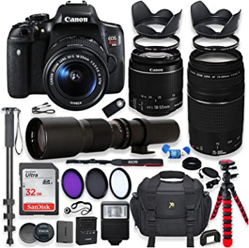 Amazon Com Canon Eos Rebel T6i Dslr Camera With 18 55mm
