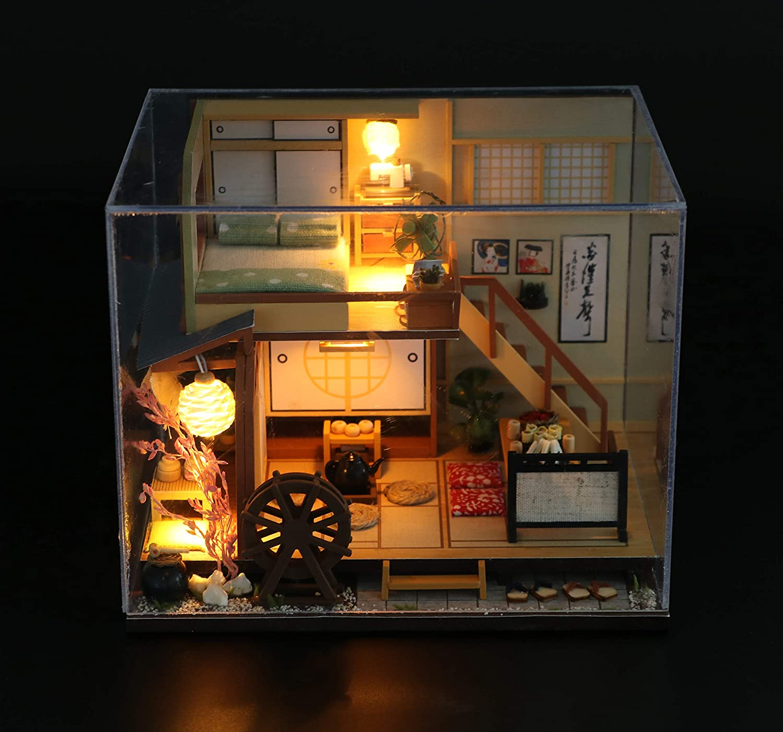 Flever Dollhouse Miniature DIY House Kit Creative Room with ...