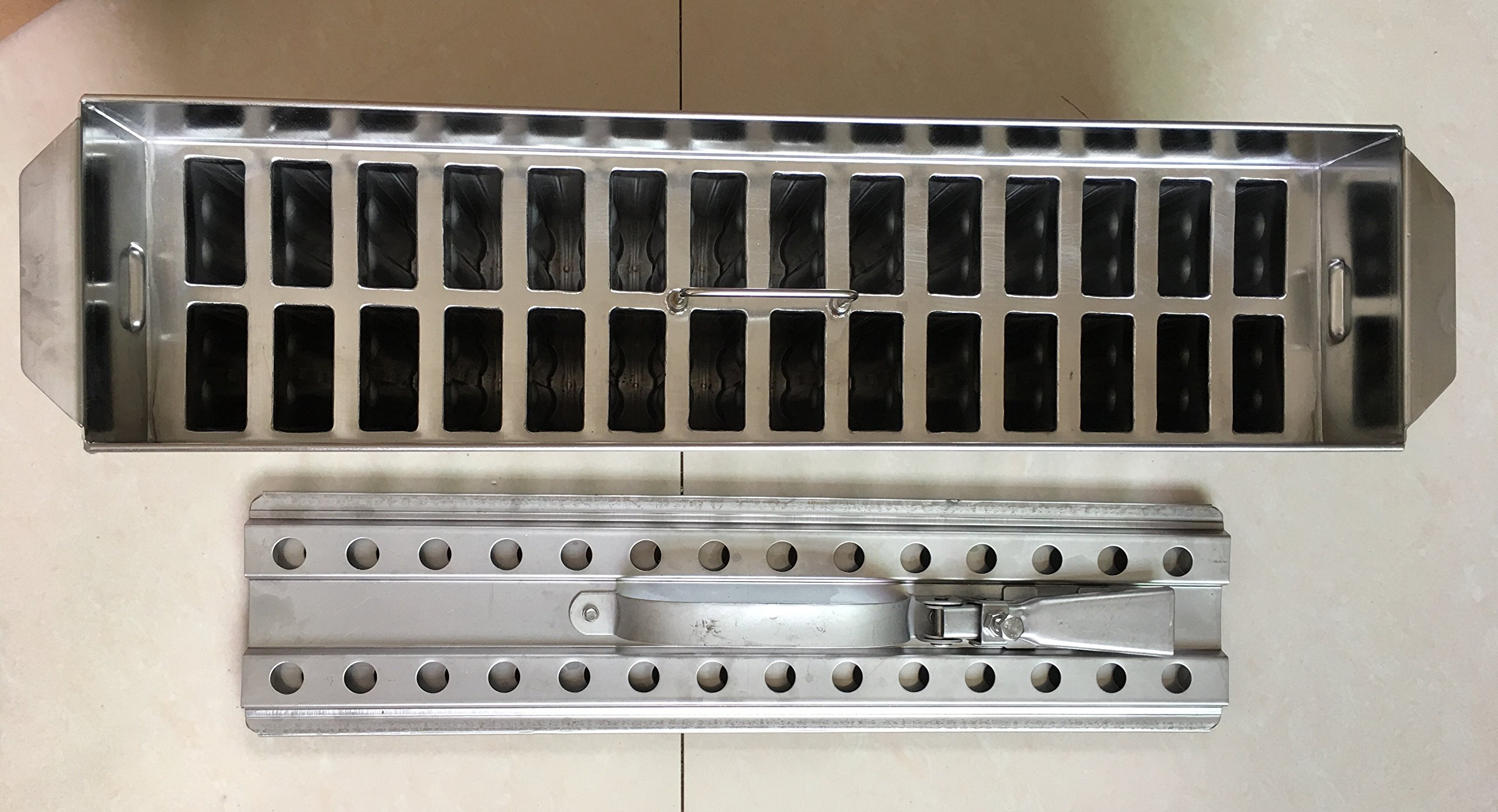 63ml Stainless steel ice cream molds ataforma type 2x14 28mold 63ml brida including stick extractor by Ykchanger