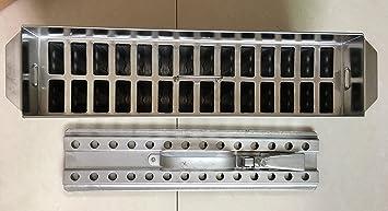 Amazon.com: 63ml Stainless steel ice cream molds ataforma type 2x14 28mold 63ml brida including stick extractor: Kitchen & Dining